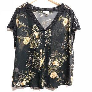 Anthropologie Meadow Rue blouse XL